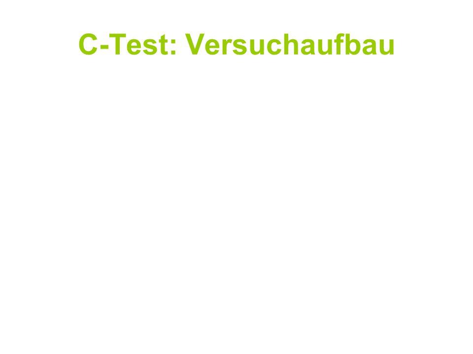 C-Test: Versuchaufbau