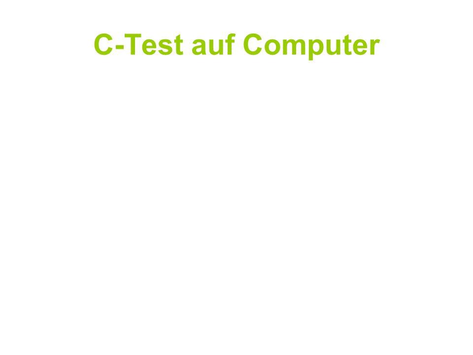 C-Test auf Computer