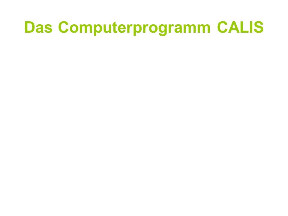 Das Computerprogramm CALIS