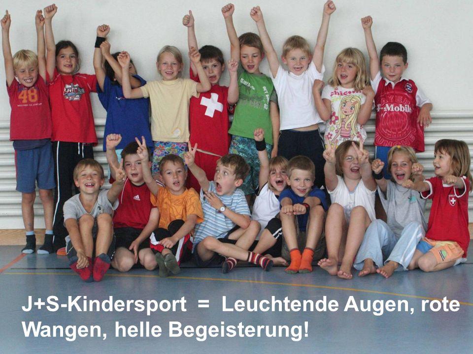 J+S-Kindersport = Leuchtende Augen, rote Wangen, helle Begeisterung!