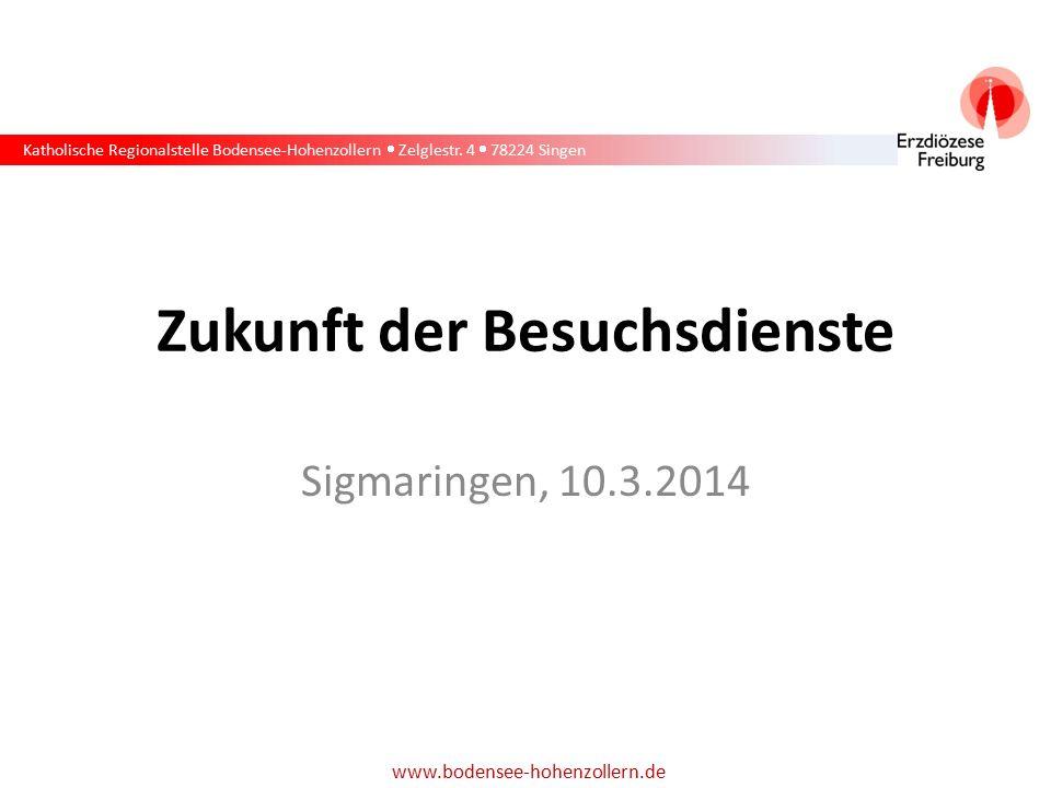 Katholische Regionalstelle Bodensee-Hohenzollern  Zelglestr. 4  78224 Singen www.bodensee-hohenzollern.de Zukunft der Besuchsdienste Sigmaringen, 10