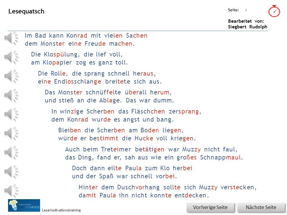 Übungsart: Seite: Bearbeitet von: Siegbert Rudolph Lesemotivationstraining 3 08 Badezimmerspaß – bitte klicken.