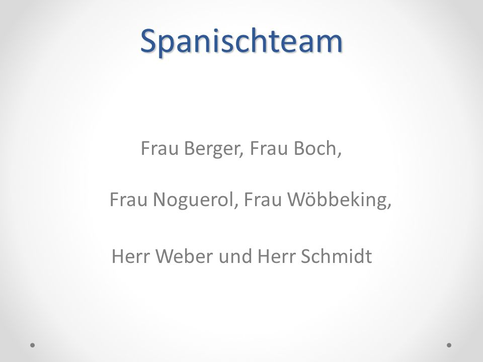 Spanischteam Frau Berger, Frau Boch, Frau Noguerol, Frau Wöbbeking, Herr Weber und Herr Schmidt