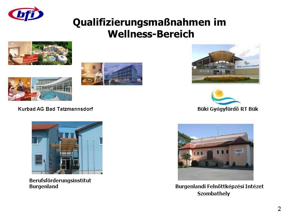 13 Qualifizierungen in Österreich Englisch an der Rezeption Ungarisch Motivation und Erfolg Teamentwicklung - voneinander lernen, miteinander profitieren