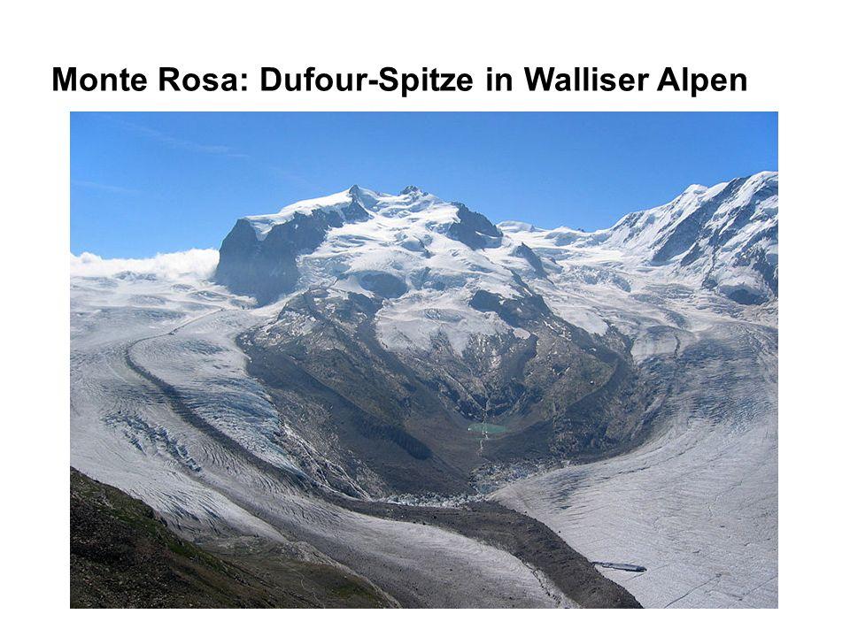 Monte Rosa: Dufour-Spitze in Walliser Alpen