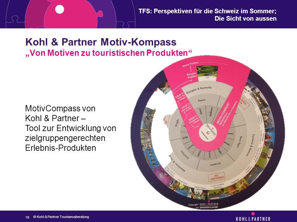 """TFS: Perspektiven für die Schweiz im Sommer; Die Sicht von aussen Kohl & Partner Motiv-Kompass """"Von Motiven zu touristischen Produkten"""" 19 MotivCompas"""
