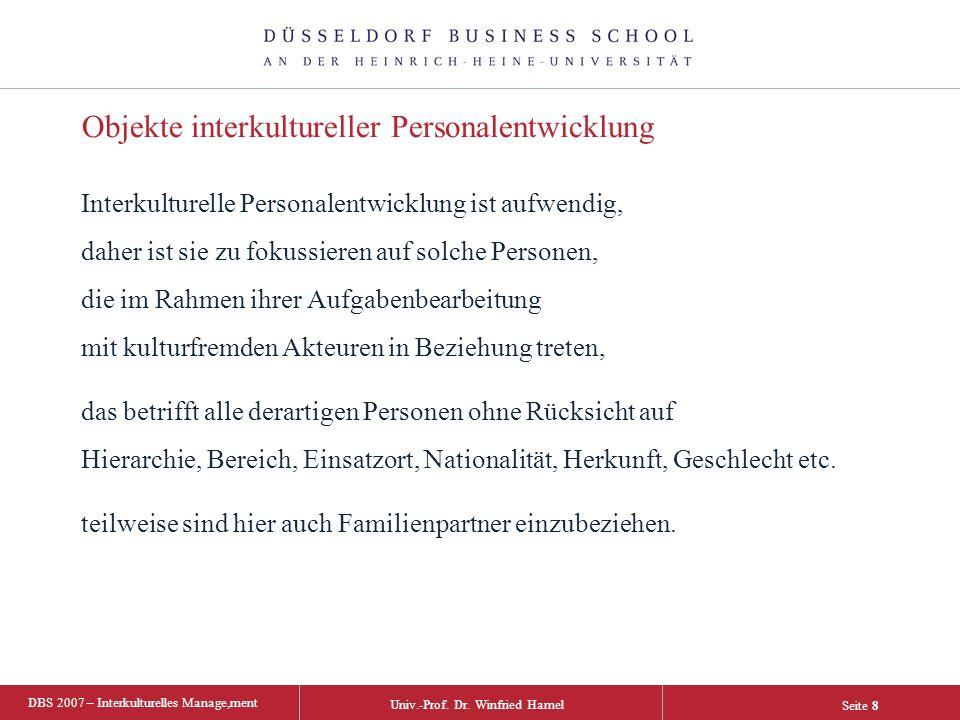 DBS 2007 – Interkulturelles Manage,ment Univ.-Prof.