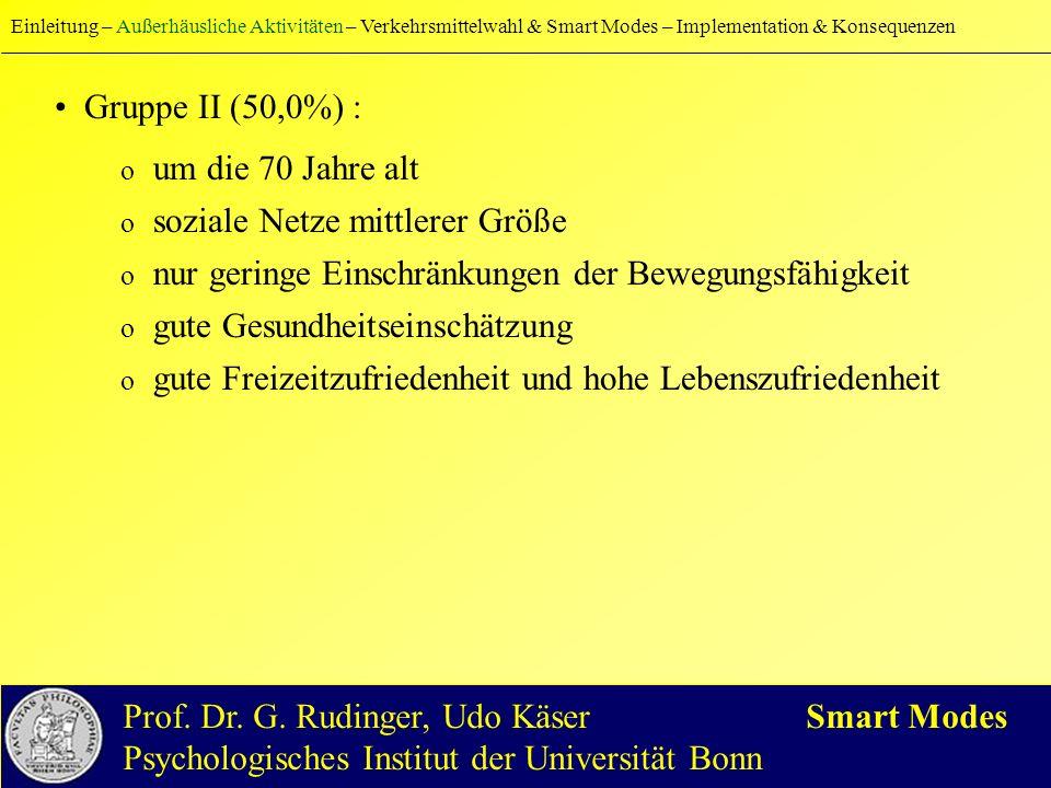 Einleitung – Außerhäusliche Aktivitäten – Verkehrsmittelwahl & Smart Modes – Implementation & Konsequenzen Prof.