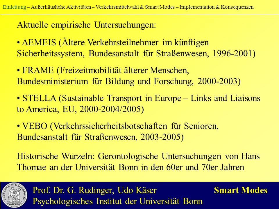 Weitere Forscher und Forschungsprojekte (u.