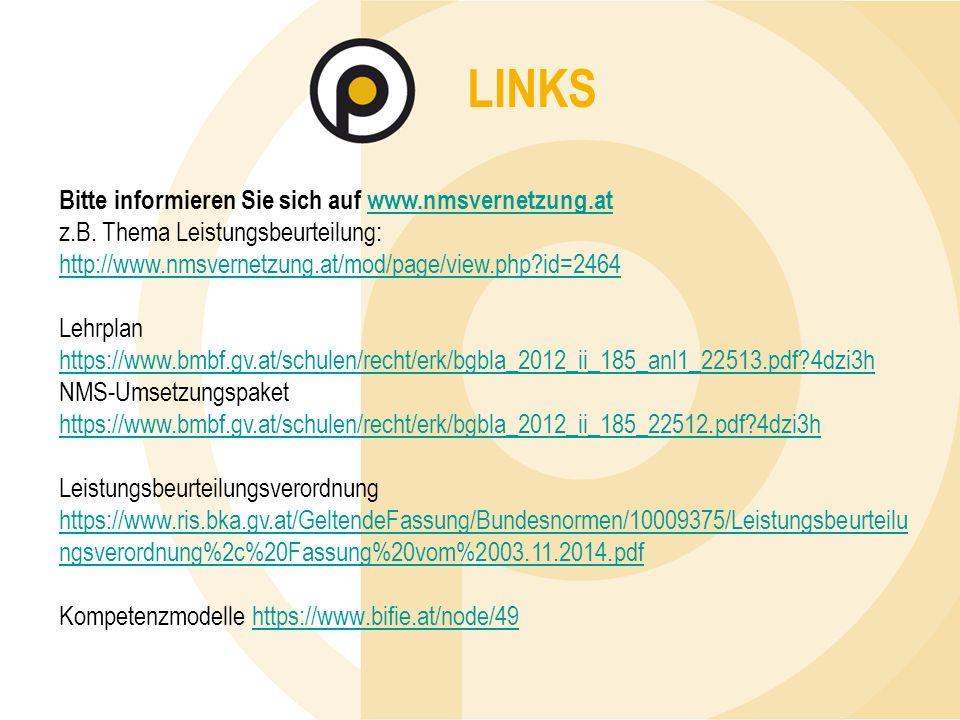 LINKS Bitte informieren Sie sich auf www.nmsvernetzung.atwww.nmsvernetzung.at z.B.