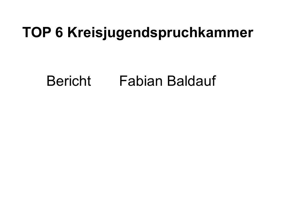 TOP 6 Kreisjugendspruchkammer Bericht Fabian Baldauf