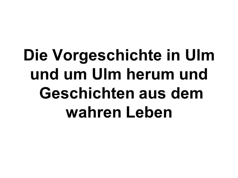Die Vorgeschichte in Ulm und um Ulm herum und Geschichten aus dem wahren Leben