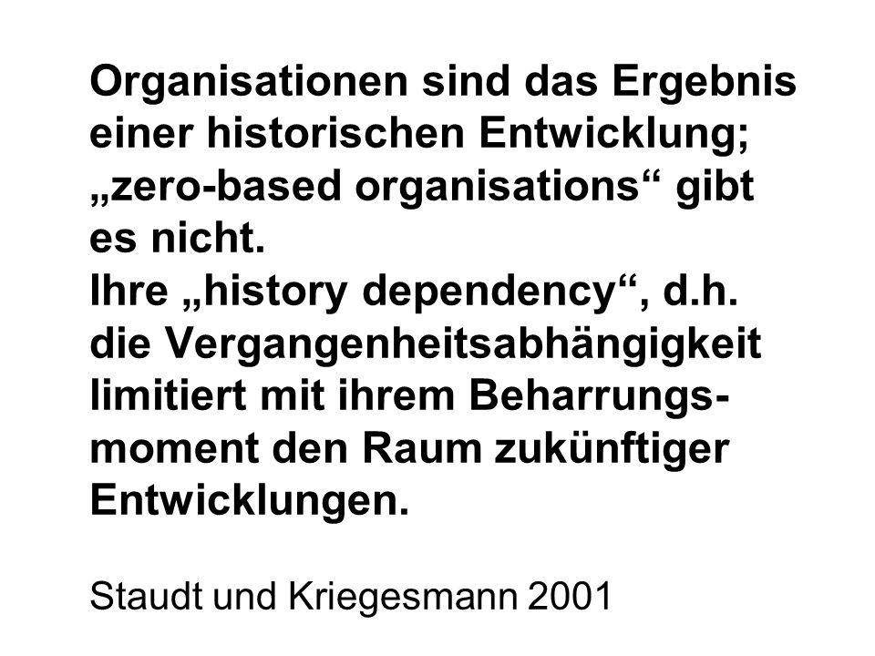 """Organisationen sind das Ergebnis einer historischen Entwicklung; """"zero-based organisations gibt es nicht."""