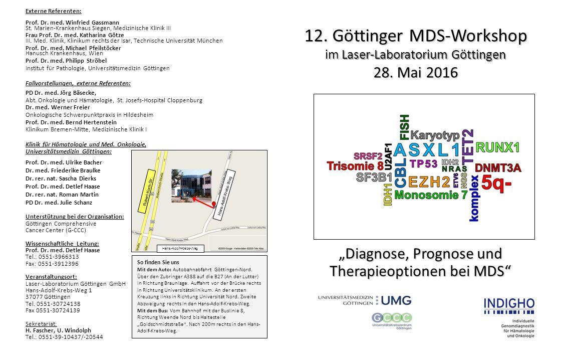 12.Göttinger MDS-Workshop im Laser-Laboratorium Göttingen 28.