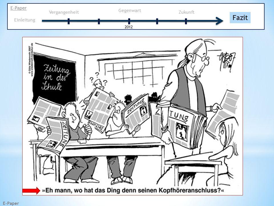 E-Paper Vergangenheit Gegenwart 2012 Einleitung Fazit Zukunft