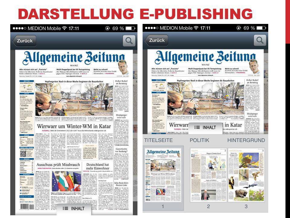 DARSTELLUNG E-PUBLISHING