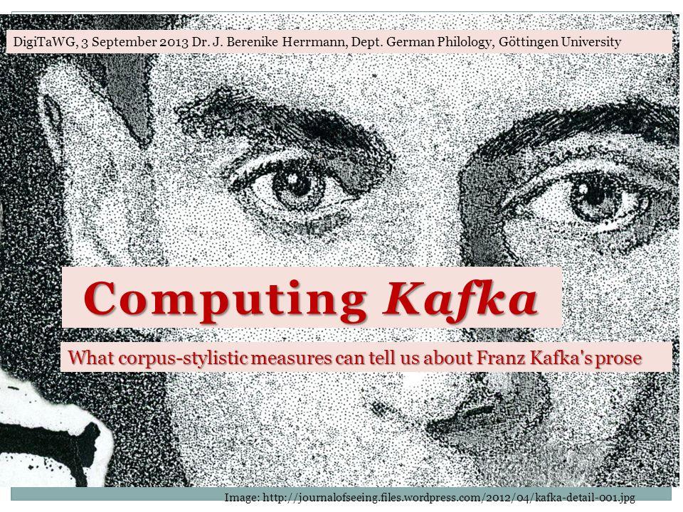 Computing Kafka Image: http://journalofseeing.files.wordpress.com/2012/04/kafka-detail-001.jpg DigiTaWG, 3 September 2013 Dr.