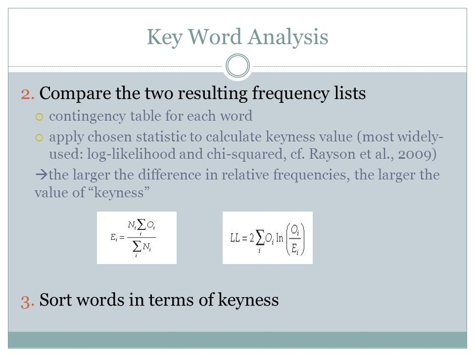 Key Word Analysis 2.