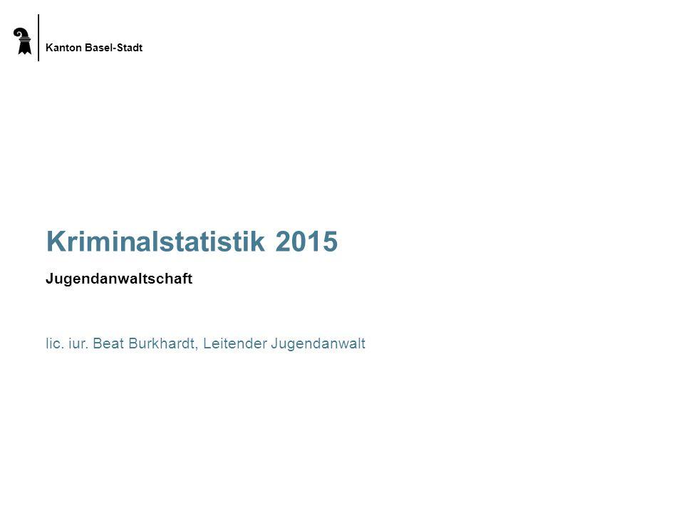 Kanton Basel-Stadt Kriminalstatistik 2015 Jugendanwaltschaft lic.