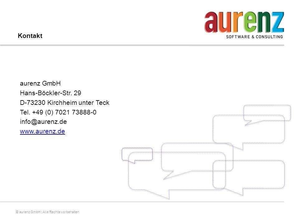 © aurenz GmbH | Alle Rechte vorbehalten Kontakt aurenz GmbH Hans-Böckler-Str.