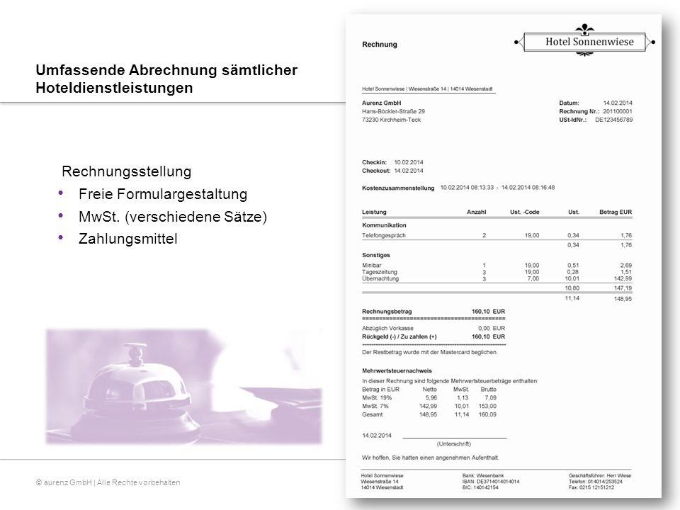 © aurenz GmbH | Alle Rechte vorbehalten Gästeverwaltung