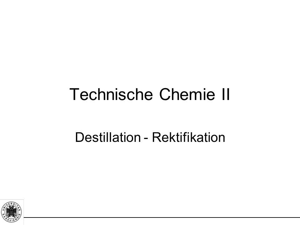 Destillation - Rektifikation Technische Chemie II