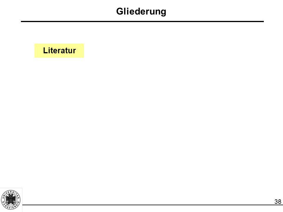 38 Literatur Gliederung