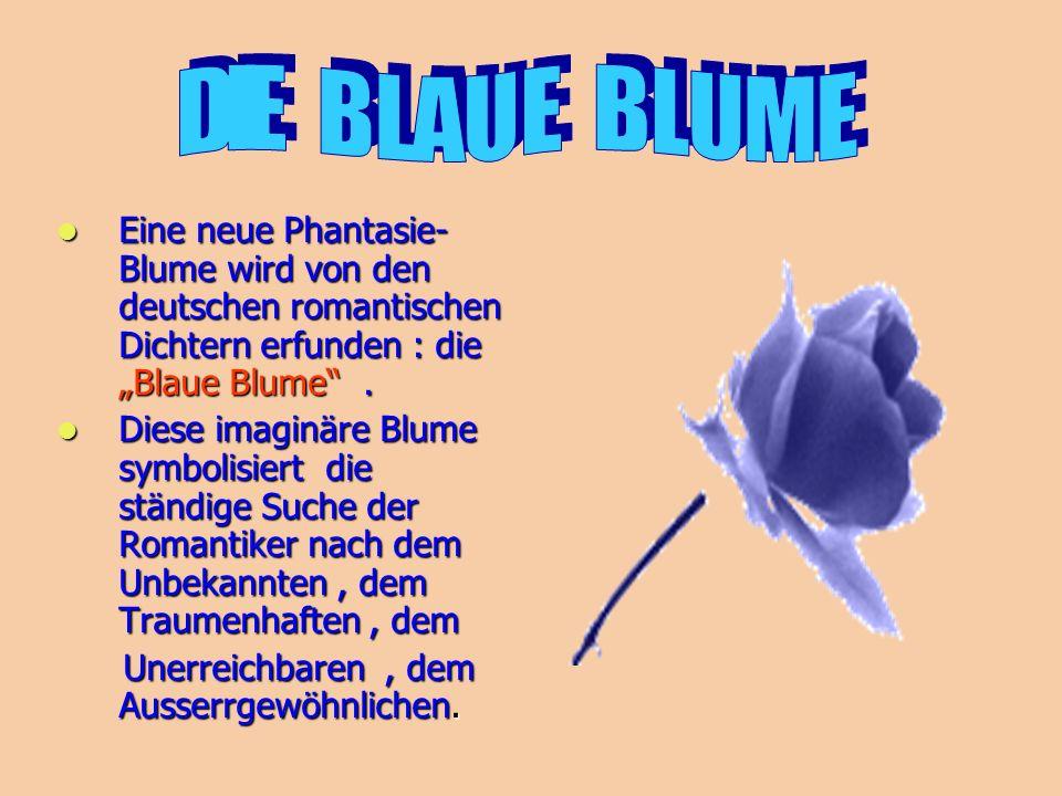 """Eine neue Phantasie- Blume wird von den deutschen romantischen Dichtern erfunden : die """"Blaue Blume"""". Eine neue Phantasie- Blume wird von den deutsche"""