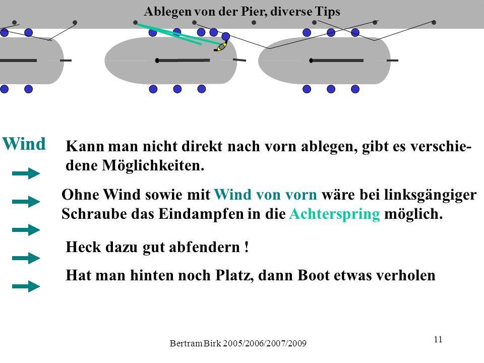 Bertram Birk 2005/2006/2007/2009 11 Kann man nicht direkt nach vorn ablegen, gibt es verschie- dene Möglichkeiten.