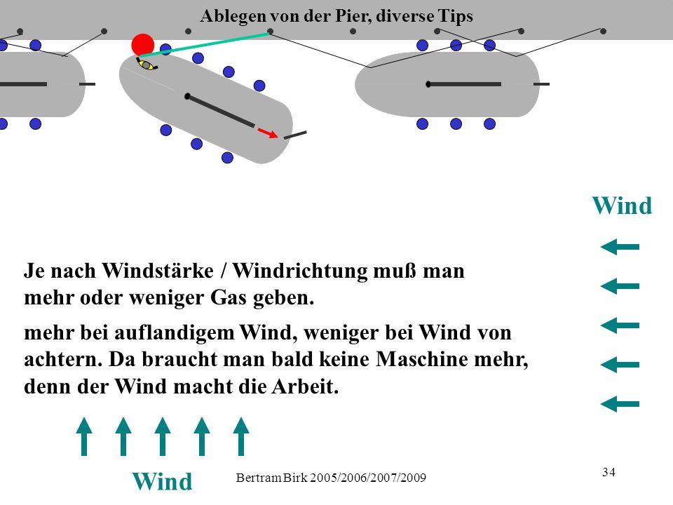 Bertram Birk 2005/2006/2007/2009 34 mehr bei auflandigem Wind, weniger bei Wind von achtern.