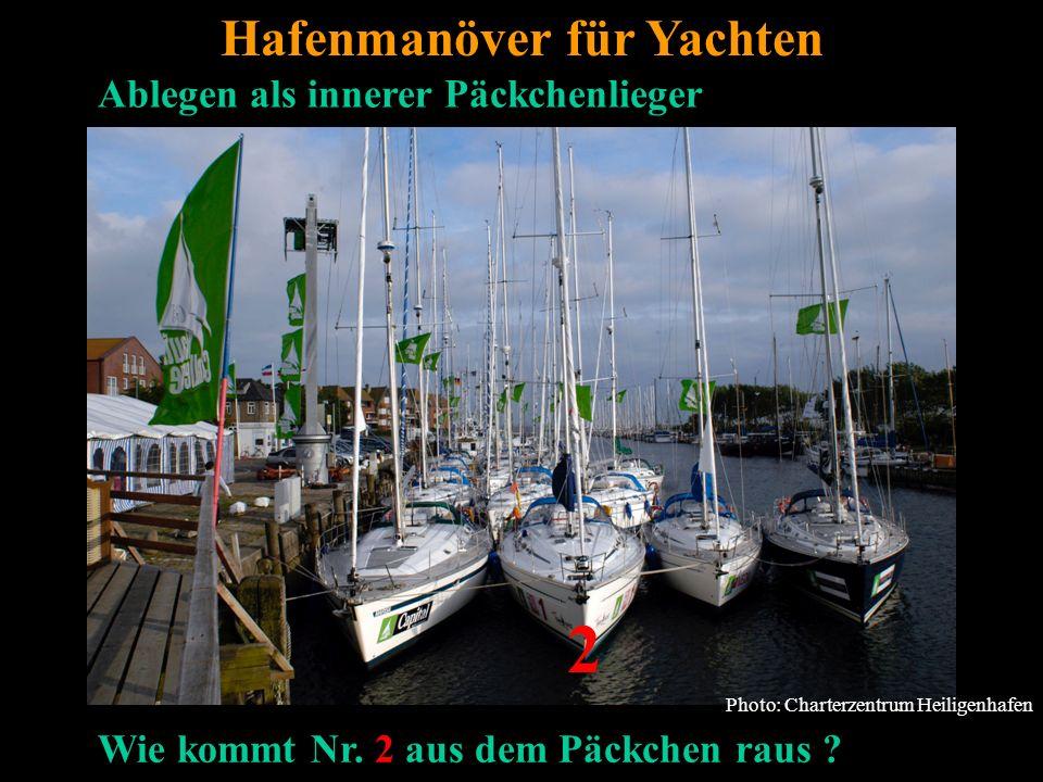 Bertram Birk 2005/2006/2007/2009 45 Photo: Charterzentrum Heiligenhafen Hafenmanöver für Yachten Ablegen als innerer Päckchenlieger 2 Wie kommt Nr.