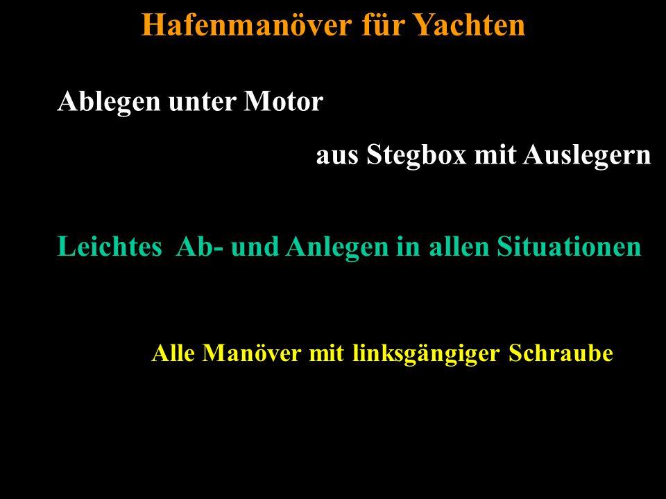 Bertram Birk 2005/2006/2007/2009 53 Ablegen unter Motor aus Stegbox mit Auslegern Hafenmanöver für Yachten Leichtes Ab- und Anlegen in allen Situationen Alle Manöver mit linksgängiger Schraube