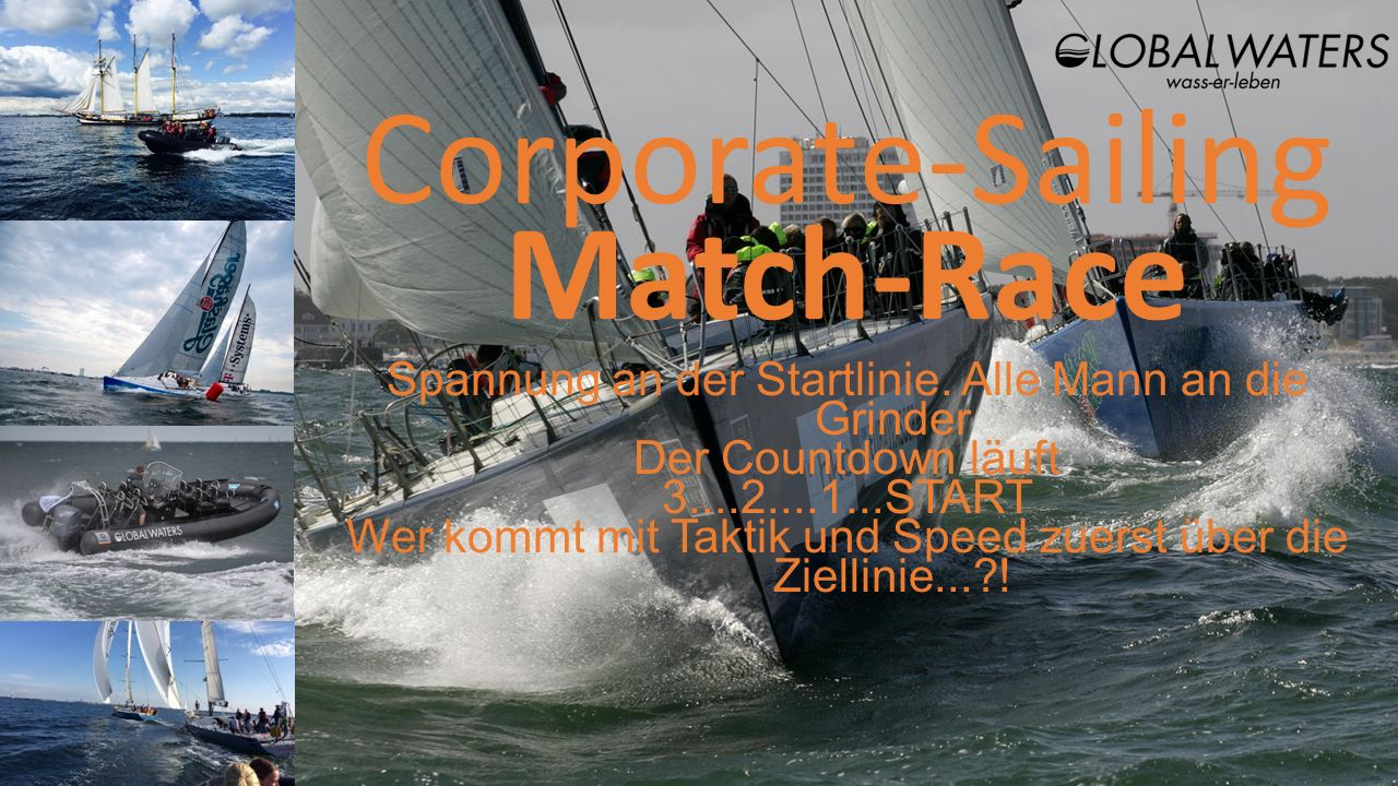 Corporate-Sailing Match-Race Spannung an der Startlinie.
