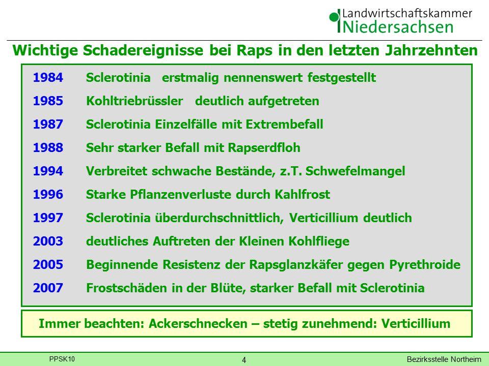 Bezirksstelle Northeim 5 PPSK10 Überschrift: