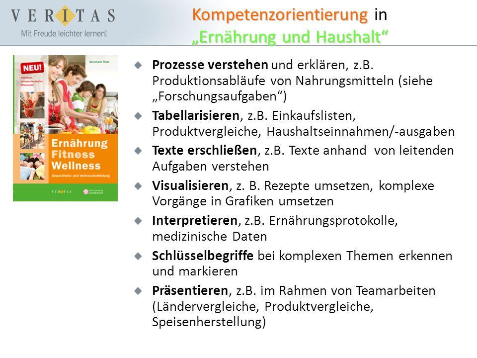 """Kompetenzorientierung """"Ernährung und Haushalt Kompetenzorientierung in """"Ernährung und Haushalt Prozesse verstehen und erklären, z.B."""