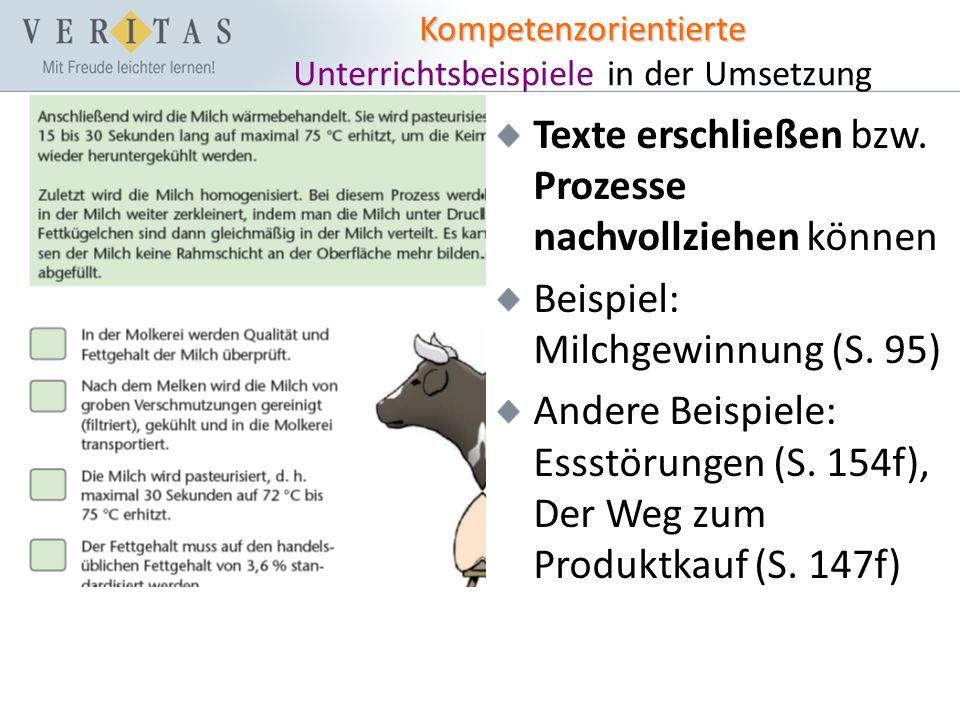 Kompetenzorientierte Kompetenzorientierte Unterrichtsbeispiele in der Umsetzung Texte erschließen bzw.