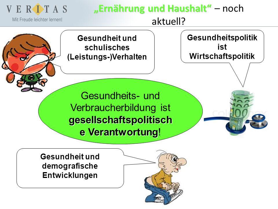 """Ernährung und Haushalt ""Ernährung und Haushalt – noch aktuell."