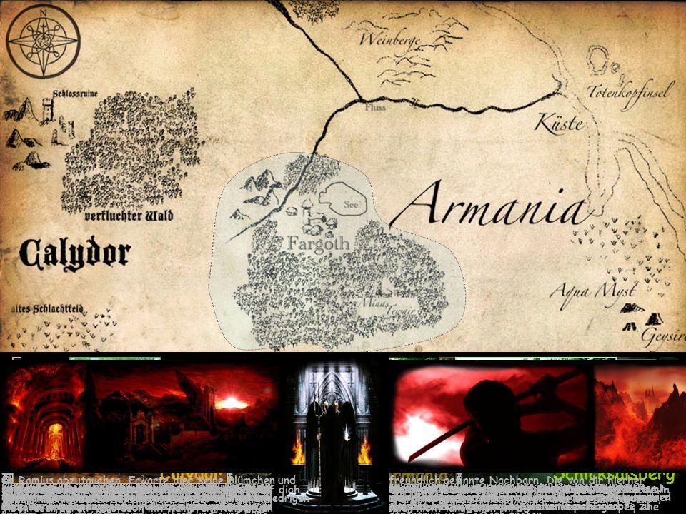 … die ausgedehnten Reiche zu erkunden wie die Wüstenlandschaft Calydor, die fruchtbaren Lande von Armania oder den geheimnisumwobenen Schicksalsberg, der nur den kühnsten Abenteurern von Fargoth zugänglich sein wird.