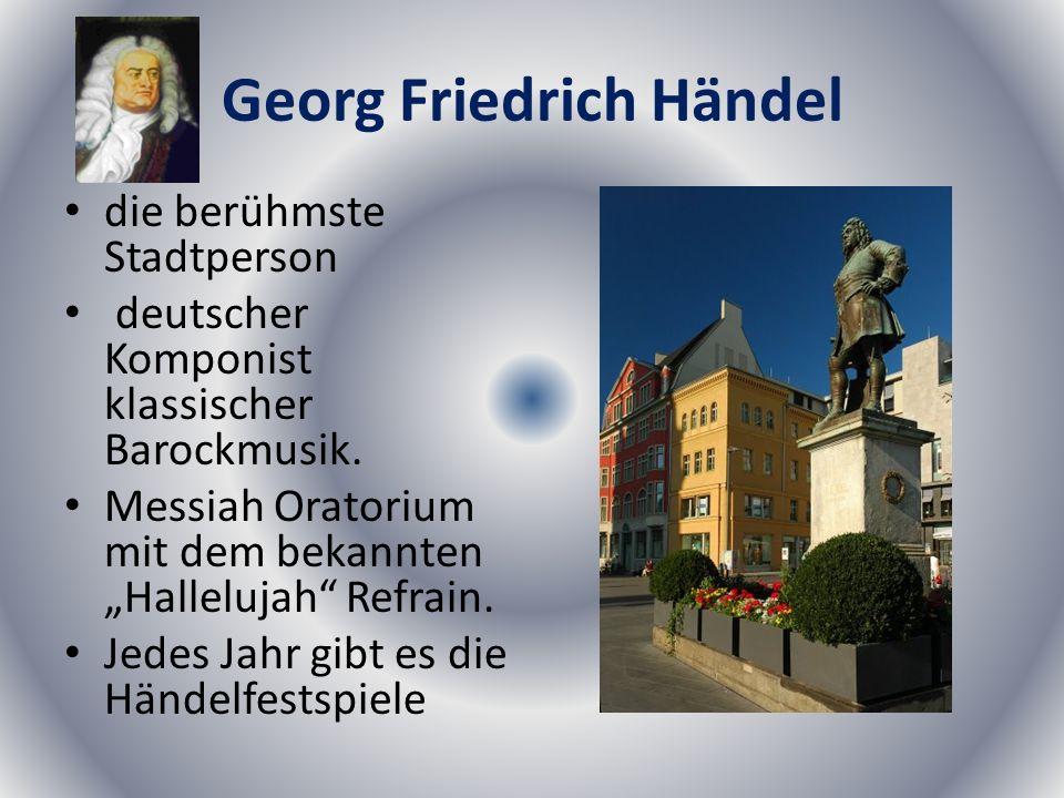 Georg Friedrich Händel die berühmste Stadtperson deutscher Komponist klassischer Barockmusik.