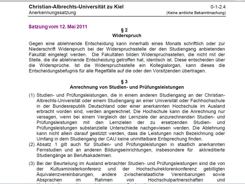 Satzung vom 12. Mai 2011