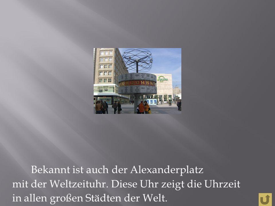 Das Symbol von Berlin ist das Branderburger Tor.Es hat sechs Säulen.