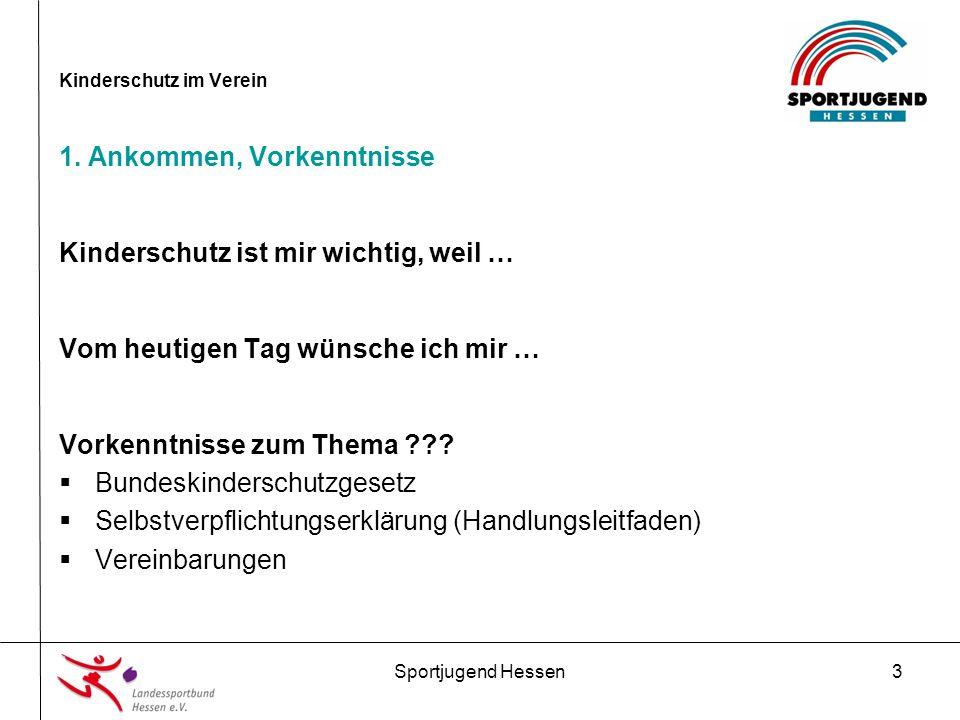 Sportjugend Hessen14 Kinderschutz im Verein 4.Präventionsmaßnahmen im Verein 2.
