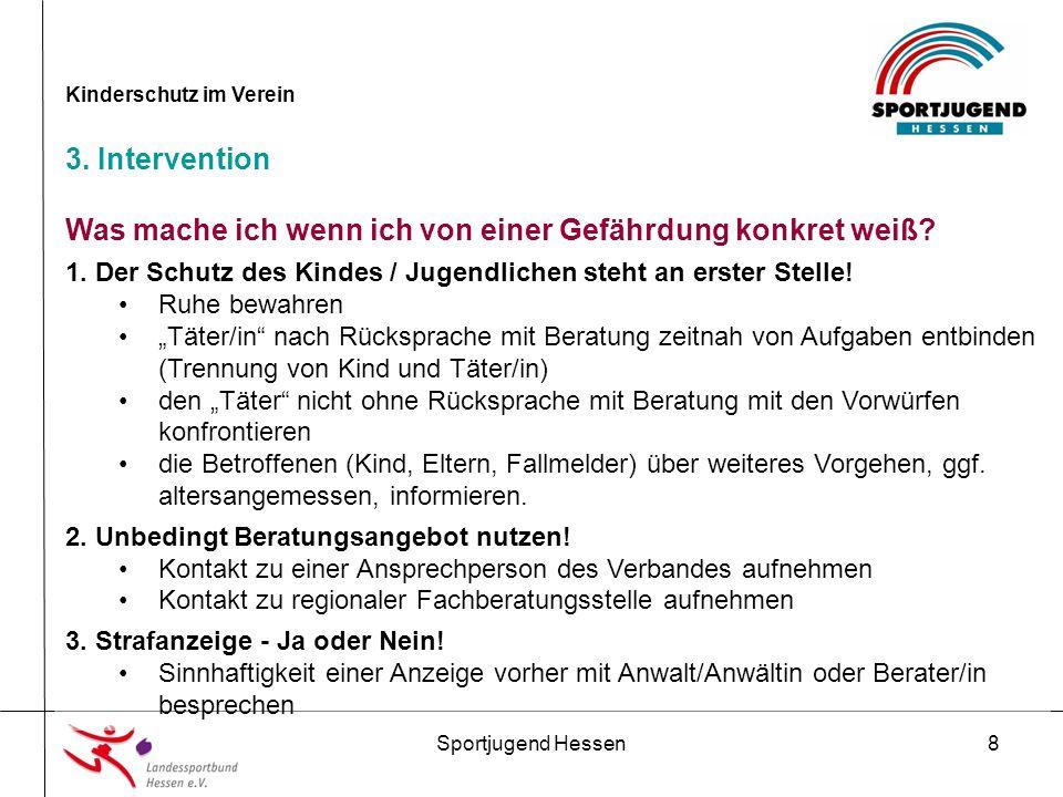 Sportjugend Hessen19 Kinderschutz im Verein 5.