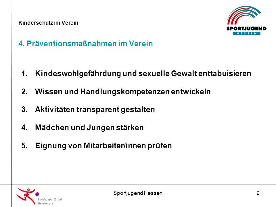 Sportjugend Hessen9 Kinderschutz im Verein 4.