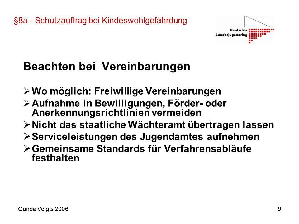"""Gunda Voigts 200610 §72a Persönliche Eignung von Fachkräften """"Die Träger der öffentlichen Jugendhilfe sollen hinsichtlich der persönlichen Eignung im Sinn des § 72 Abs."""