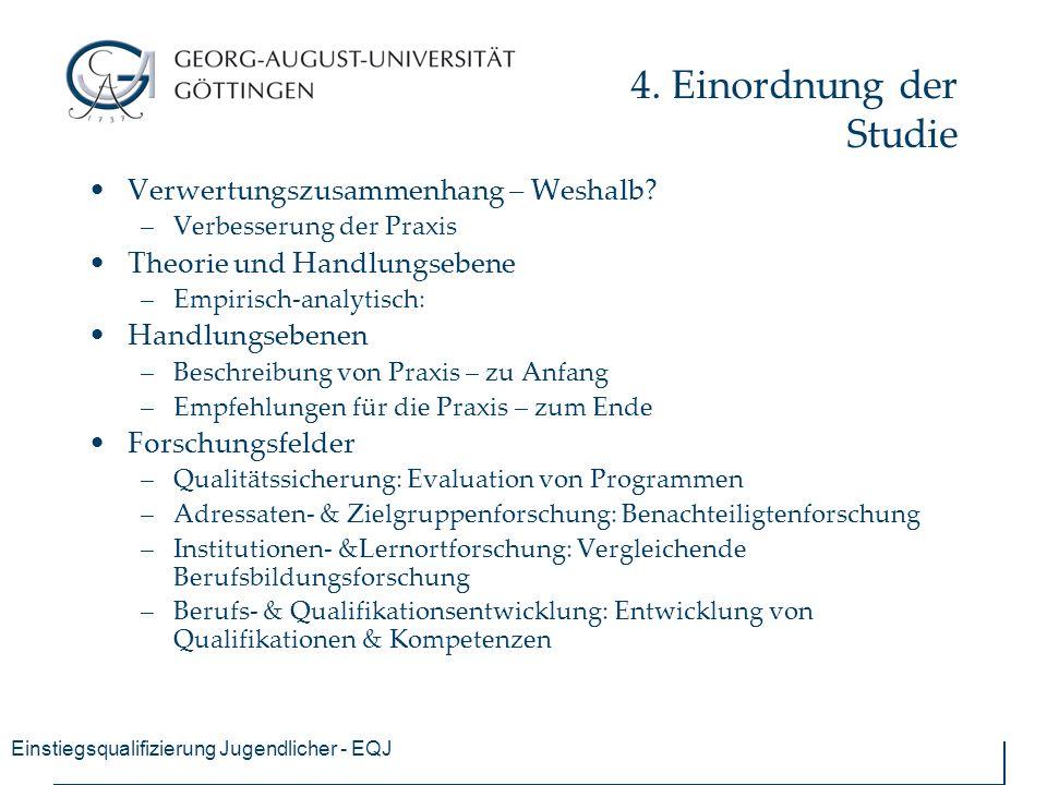 Einstiegsqualifizierung Jugendlicher - EQJ 4.