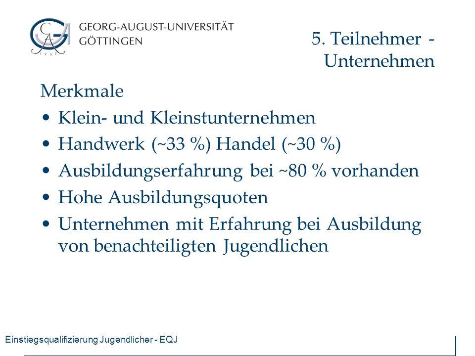 Einstiegsqualifizierung Jugendlicher - EQJ 5.