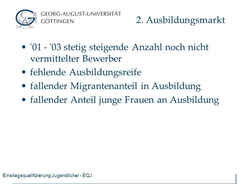 Einstiegsqualifizierung Jugendlicher - EQJ 2.