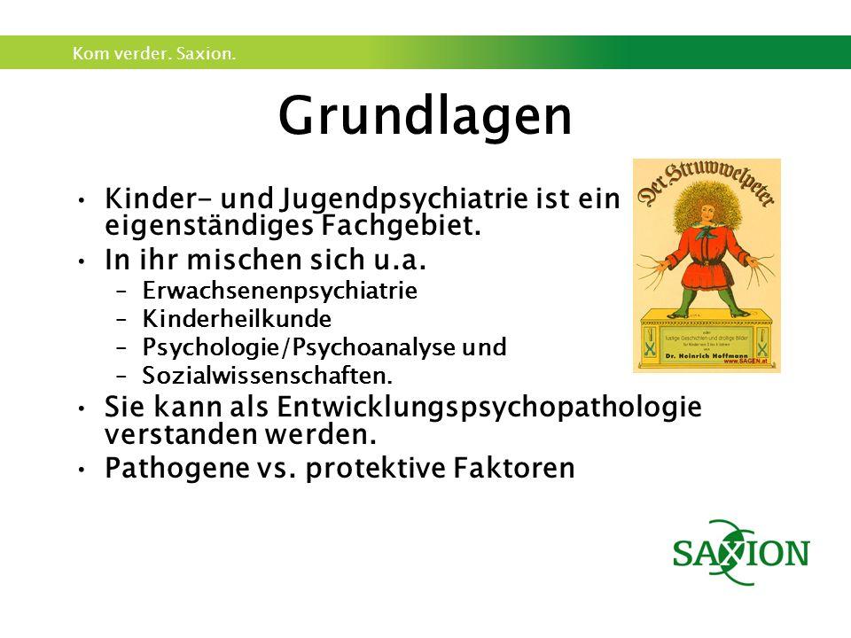 Kom verder. Saxion. Grundlagen Kinder- und Jugendpsychiatrie ist ein eigenständiges Fachgebiet. In ihr mischen sich u.a. –Erwachsenenpsychiatrie –Kind