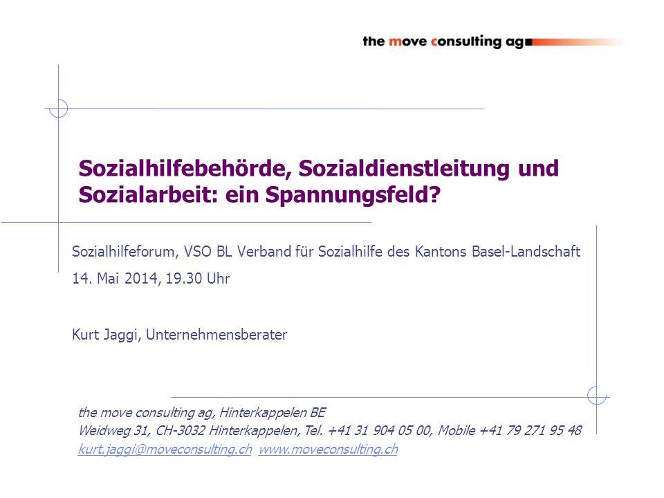 VSO BL, Sozialhilfeforum vom 14.5.14 Gesetzlicher Auftrag der Sozialhilfebehörde BE Art.